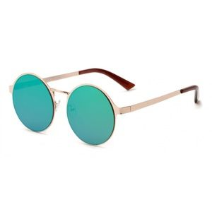 Teal Mirrored Sunglasses